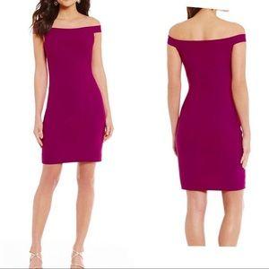 NWT Belle Badgely Mischka Off-Shoulder Dress